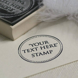 'Your Own Text' Rubber Stamp - summer sale