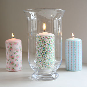 Pretty Floral Scented Candle - bedroom