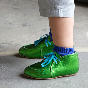 Childrens Metallic Booties - boys occasion wear
