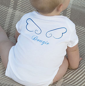 Personalised 'Little Angel' Baby Bodysuit - babygrows