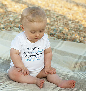 Personalised 'Precious' Baby's Name Bodysuit