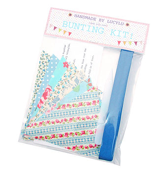 Make Your Own Bunting Kit in Blue Floral