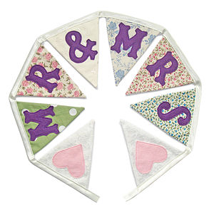 'Mr And Mrs' Wedding Bunting - bunting & garlands