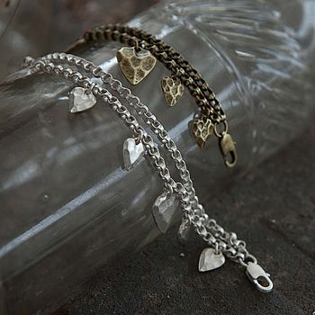 Bracelet With Heart Charms