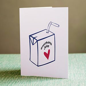 'Elephant Juice' I Love You Card
