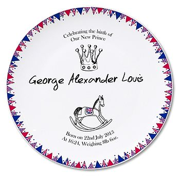 Royal Baby Commemorative Plate