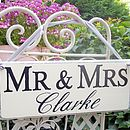 Personalised Mr And Mrs Monogram Wedding Signs