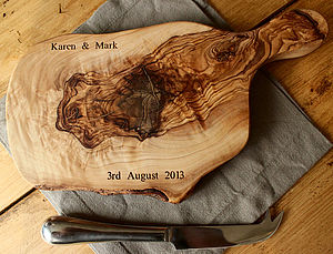 Personalised Rustic Cheese Board