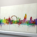 Vintage Background London Skyline Box Canvas