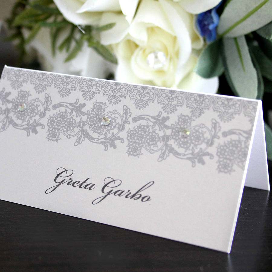 Wedding place card name card by 2by2 creative for Place card for wedding