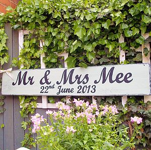 Personalised Vintage Wedding Sign - outdoor decorations