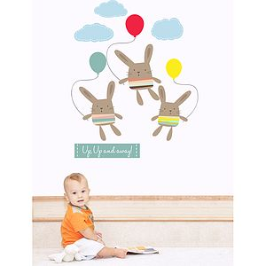 Up Up And Away Fabric Wall Stickers - office & study