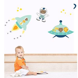 Space Buddies Fabric Wall Stickers - wall stickers