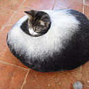 Black and White cat bed