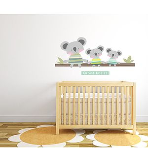 Cutest Koalas Fabric Wall Stickers - decorative accessories