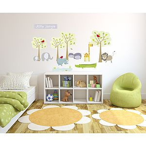 Jolly Jungle Fabric Wall Stickers - children's room accessories