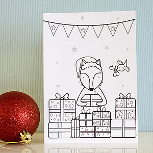 Pack Of Six Colouring Christmas Cards - birthday cards