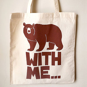 Bear Tote Bag 'Bear With Me' - bags & purses