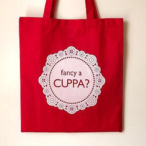 'Fancy a Cuppa' Tote Bag - bags & purses