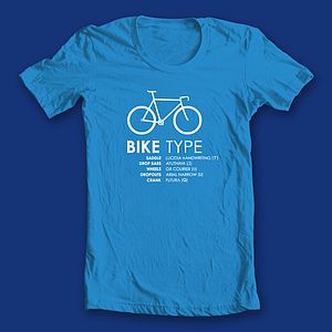 Bike Type Slim Fit Organic T Shirt - tops & t-shirts