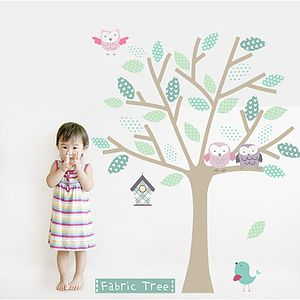 Fabric Tree Wall Sticker - wall stickers