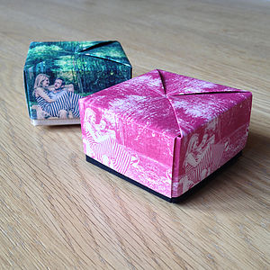 Photographic Origami Favour Box - table decorations