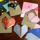 Origami Notepaper Set : Apple