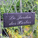 French herb garden sign