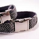 Herringbone Harris Tweed Dog Collar