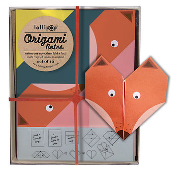 Origami Notepaper Set : Fox