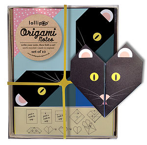 Origami Notepaper Set : Cat - children's party invitations