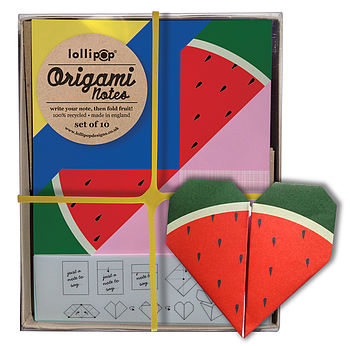 Origami Notepaper Set : Watermelon