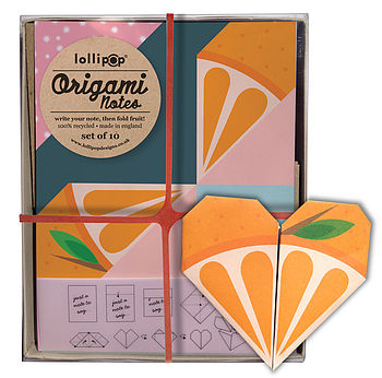Origami Notepaper Set : Orange