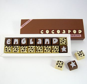 Personalised FOOTBALL Themed Chocolates