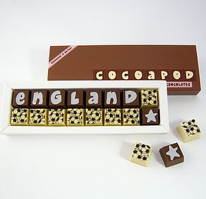 Personalised FOOTBALL Themed Chocolates - chocolates