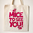 'Mice To See You' Handprinted Girl's Bag