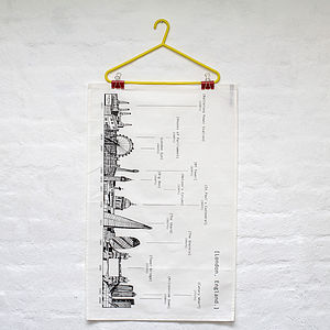 London Skyline Tea Towel - kitchen linen