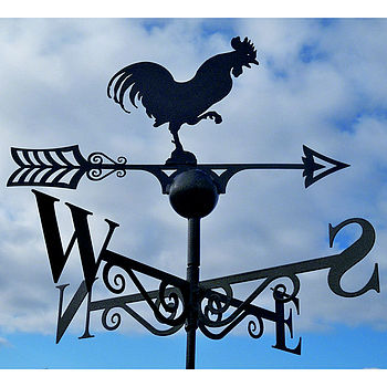 Cockerel Steel Weathervane Made In Britain