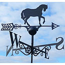 Horse Steel Weathervane Made In Britain