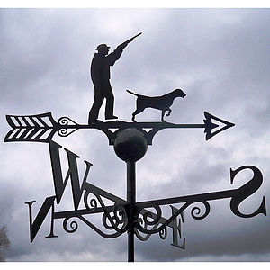 Hunting Season Weathervane - art & decorations