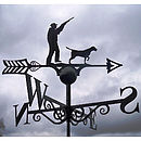 Hunting Season Steel Weathervane Made In Britain
