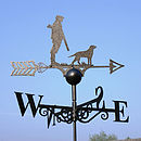 Man And Dog Steel Weathervane Made In Britain