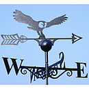 Owl Steel Weathervane Made In Britain
