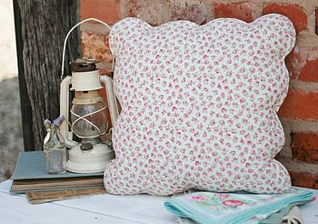 Rose Bud Shabby Chic Cushion