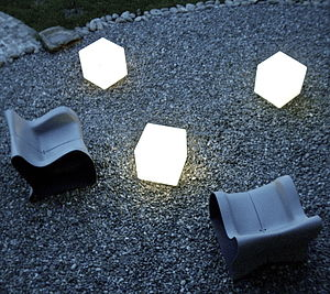Outdoor Cube Lit Table - floor lamps