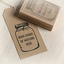 'Your Choice Of Wording' Jar Stamp