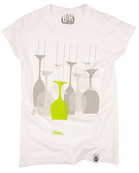 Women's Vino Design T Shirt