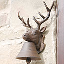 Cast Iron Deer Head Doorbell
