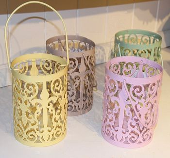 Fretwork Garden Candle Lanterns