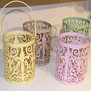Set Of Four Fretwork Garden Candle Lanterns